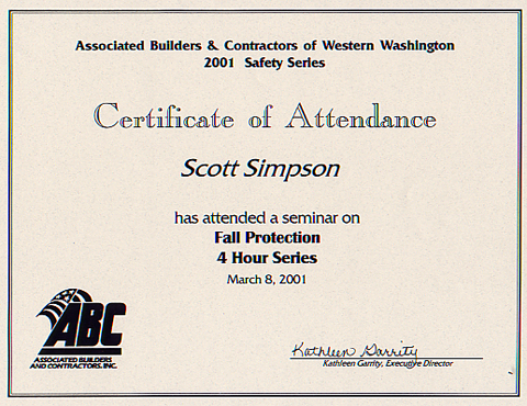 Fall Protection Certification Template Mandegarfo